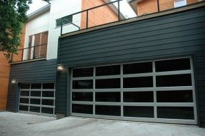 contemporary style glass garage door greensboro nc